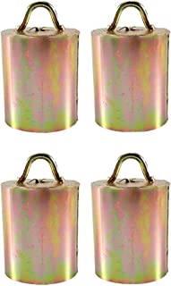 Generic 4Pcs Cow Bell with Handle Brass Cow Horse Bell Sheep Grazing Copper Bells Cattle Farm Animal Loud Bell Pet Anti Th...