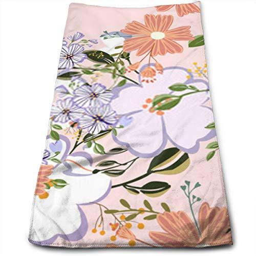 YudoHong Patrón sin Fisuras en pequeñas y Medianas Flores pequeñas Flores Coloridas Ditsy Elegante Plantilla de Fondo Floral para Impresiones de Moda baño Mano a