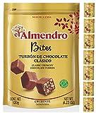 El Almendro - Bites de Turrón de Chocolate con Leche Crujiente 120g - 8 Unidades 960g