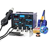 BACOENG 2in1 862d+ SMD Soldering Iron Hot Air Soldering Station W/Various Accessories(Improved Version of 852 and 862)