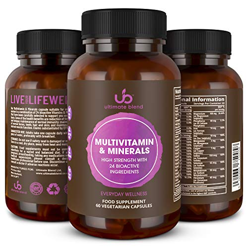 Ultimate Blend | Multivitamin & Minerals | Once Daily Nutritional Support with 26 Bioactive Ingredients | Everyday Wellness Supplement | Vegan, Gluten Free | Boosts Energy & Immunity – 60 Veggie Caps