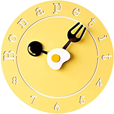 GOPG Creative Wall Clock Personality Fashion Modern Classic Clock Bedroom Silent Childrens Cartoon Cute Home Hanging