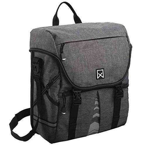 Willex Fahrradtasche 10L Anthrazit Gepäckträgertasche Packtasche Gepäcktasche
