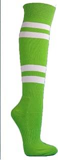4 White Stripes Knee High Softball Baseball Sports Tube Socks