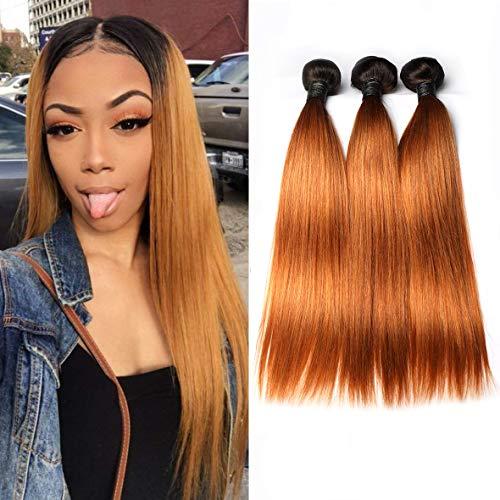 BLISSHAIR Cheveux Bresilienne Rémy Perruques Tissage Extensions de cheveux Humains 3 Bundles OT1B/30 (14\