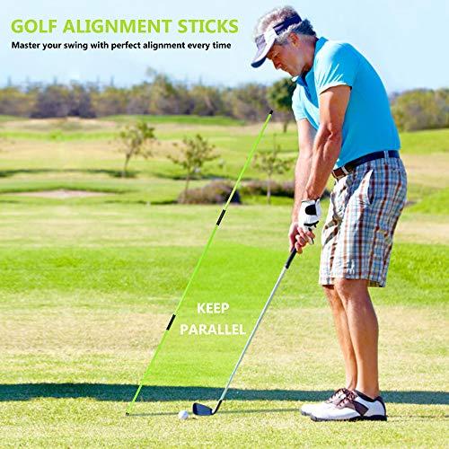 Asyxstar Golf Alignment Stick - Golf Sticks Alignment Aid 48