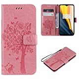 Cofola Coque Sony Xperia Z3 Compact / Z3 Mini, Gaufrage Arbre et Chat Leather Cuir Rabat Wallet Case...