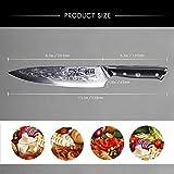SHAN ZU Damastmesser Kochmesser 67 Schichten Damaststahl Küchenmesser mit G10 Griff 20cm - PRO Series - 3