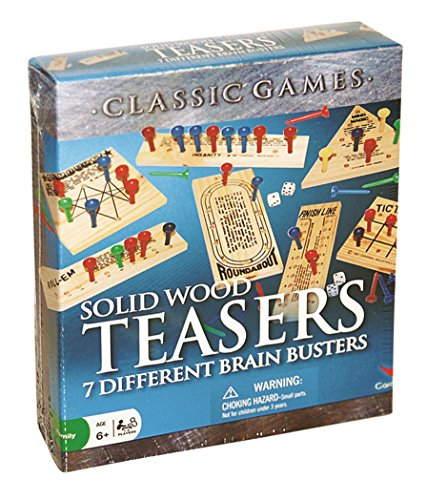 Solid Wood Brain Teasers - 7 Different Brain Busters by Cardinal Industries