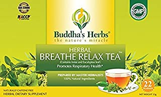 Sponsored Ad - Buddha's Herbs Premium Breathe Relax tea with Eucalyptus, 88 Tea Bags (Pack of 4)