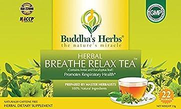 Buddha's Herbs Premium Breathe Relax tea with Eucalyptus, 88 Tea Bags (Pack of 4)