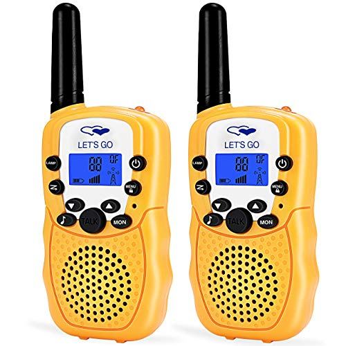 ATOPDREAM Best Gifts for 4-5 Year Old Boys, Two Way Radio Long Range Walkies Talkies for Kids Fun Popular Outdoor Best Top Toys for Birthday Gifts for Boys Age 3-12 Yellow FDWT03