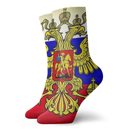 Men's And Women Socks- Russian Flag Colorful Funny Novelty Crew Socks