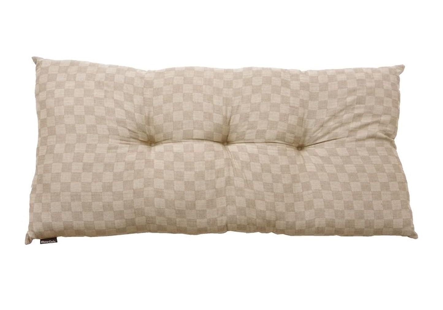 束フロー宮殿日本製 インド綿 長座布団 「クレタ」 約55×110cm ベージュ(#3000579)