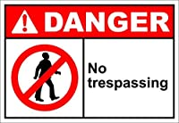 ウォールサイン通知警告サインの装飾、立ち入り禁止の危険なし、ティンサインヴィンテージの壁の装飾カフェバーパブホームビール装飾工芸品レトロヴィンテージサイン