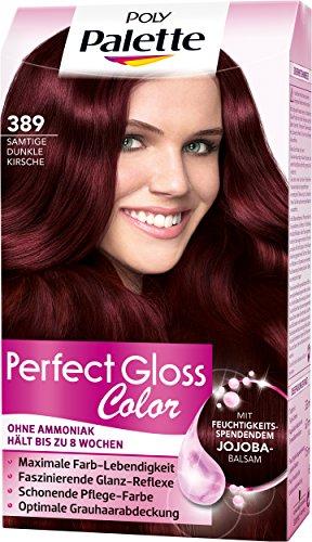 Poly Palette Perfect Gloss Color Tönung, 389 Samtige Dunkle Kirsche, 3er Pack (3 x 115 ml)