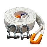 LJFYMX Cuerda de Remolque Cuerda de Remolque de Alta Resistencia, Cuerda cabrestante 26.000 Libras (12 toneladas), con un Gancho de tracción del vehículo de recuperación Eslinga 4x4 (Size : 5T*8M)