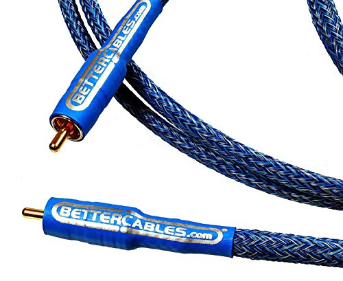 Better Cables Blue Truth Digital Coax Cable - High-End, High-Performance, Silver/Copper Hybrid, Low-Capacitance, Premium Coaxial Cable (RCA Cable) - 1.5 Feet