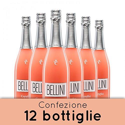 Bellini Spumante Brut e Pesca Bianca - 12 bt - 75 cl. - Canella cocktail