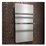 Infrarotheizung 600 Watt Glas Infrarot Heizung Design Elektrischer Heizkörper doppelte Glaswand montierte weiße Farbe