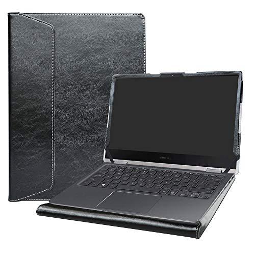 Alapmk Diseñado Especialmente La Funda Protectora de Cuero de PU para 13.3' Samsung Notebook 9 Pro NP930MBE Ordenador portátil(Not fit Samsung Notebook 7 Spin 15 NP740U5L NP740U5M),Negro