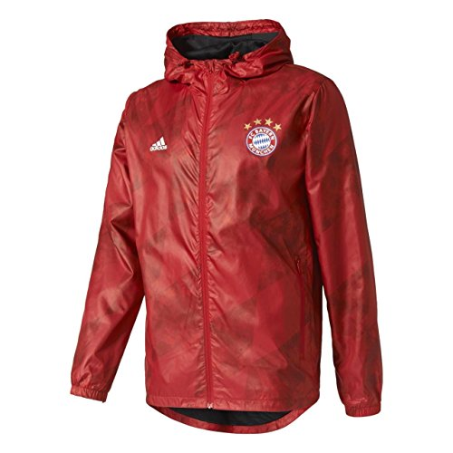adidas Herren FCB Windbreaker Sweatshirt Fc Barcelona, Rot - (ROJFCB), XS