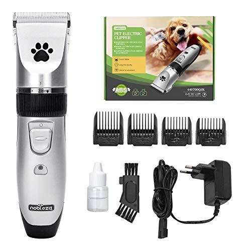 Nobleza Tondeuse Chien Professionnel Poil Long Epais Animal Silencieux Rechargeable Electrique Tondeuse pour Chien et Chat Dog Clipper Kit