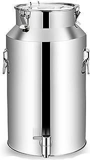 Seau scellé, 201 seau de stockage d'eau en acier inoxydable/seau à soupe/réservoir de transport, seau de brassage avec rob...