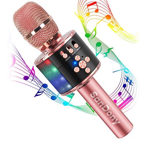 【2019最新版】 カラオケマイク bluetooth ポータブルスピーカー ワイヤレスマイク 高音質 カラオケ機器 音...