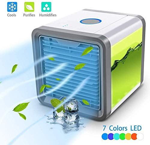 USB Air Cooler Personal Space Air Coolers for Room Portable Mini Air Conditioner for Camping & Car...