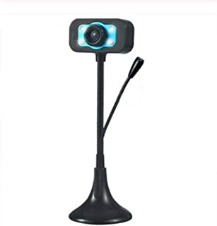 HD Webcam USB Camera Hd Webcam Microphone Video Webcam Video Teaching Live Video Chat Mini Camera with Suction Cup for Stu...