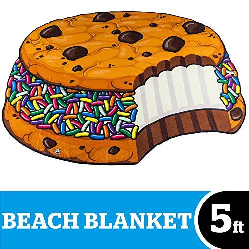 BigMouth Inc – Toalla Playa Galetta Helado Bollito Bizcochito Cookie Gigante – XXL Redonda Bano Alfombra