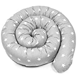 Bettschlange baby Nestchenschlange Bettrolle - 200 cm Bettumrandung Babybettschlange Babybett umrandungen Babynestchen für Kinderbett