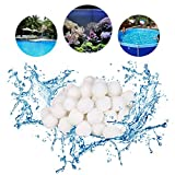 Funmo - Balles Filtrantes, 700g Boules de Filtre de Piscine, Alternative pour 25 kg de Sable filtrant (Blanc)