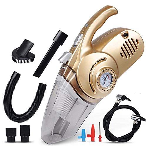 Limpiador de vacío portátil, Soporte de Aire de la aspiradora de automóviles húmedo y seco de 120W 4 en 1 aspiradora for el automóvil de la Bomba LUDEQUAN