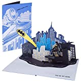 DC Comics Batman Bat Signal Pop-Up Card - You're My Hero - Deluxe Handcrafted Pop Up Card - All Occasions - 5 x 7 inches