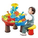 ZQO Arena y agua de la mesa de juego de arena y agua mesa de juegos de niños mesa de juegos de playa juguetes de playa juguetes al aire libre juguetes playa arena verano
