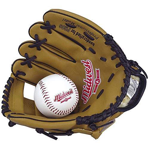 Midwest Junior 25,4cm Baseball Handschuh Mitt & Soft Vinyl Ball Kinder Starter Set