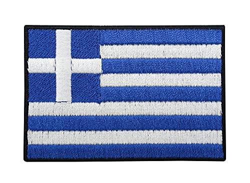 Griechenland Flagge Patch zum Aufbügeln   Griechische Fahne Patches, Greek Flag Bügelbild, Aufbügler, Aufnäher Finally Home