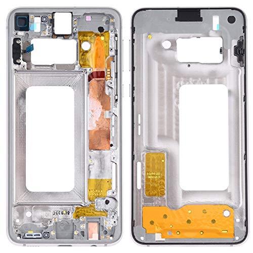BEIJING  SCREENCOVER+ / Placa del Bisel del Marco Medio con Las Llaves Laterales para Samsung Galaxy S10E SM-G970F / DS, SM-G970U, SM-G970W, Reemplazo LCD Placa Placa ATRÁS BIELEL (Color : Blanco)