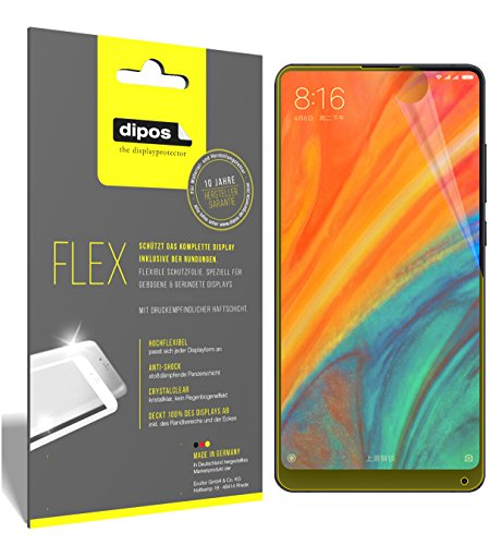 dipos I 3X Schutzfolie 100prozent kompatibel mit Xiaomi Mi Mix 2S Folie (Vollständige Bildschirmabdeckung) Bildschirmschutzfolie