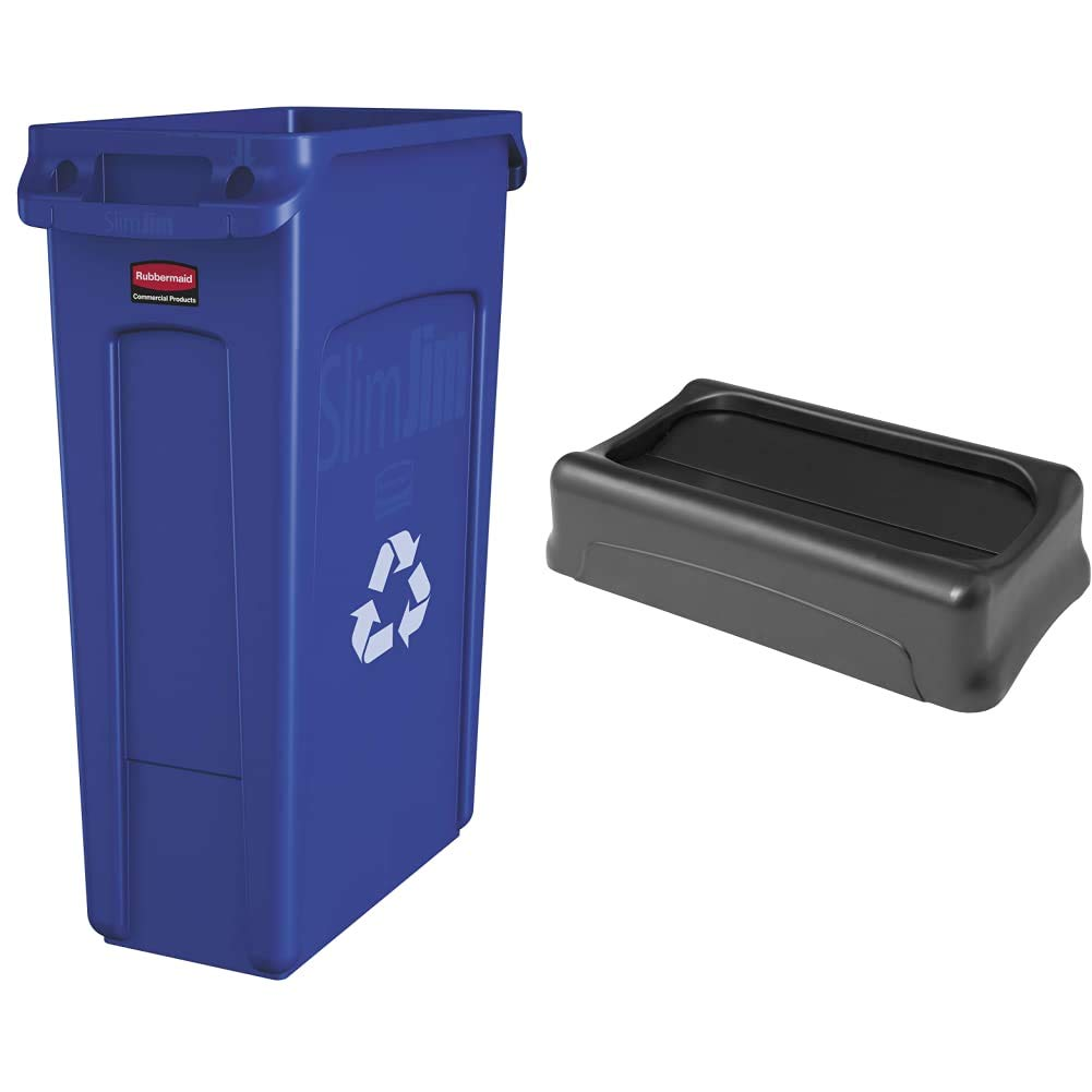 Rubbermaid Commercial Products Washington Mall Slim Rectangular Recy Jim Now free shipping Plastic