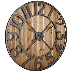 Bulova C4814 Silhouette Wall Clock, Brown