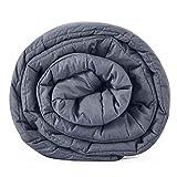 Leefun Gewichtsdecke Schwere Decke für Erwachsene und Kinder Gegen Schlafstörung und Stress Therapiedecke, Weighted Blanket für 45-120kg Personen(Grau,135x200cm,8kg)