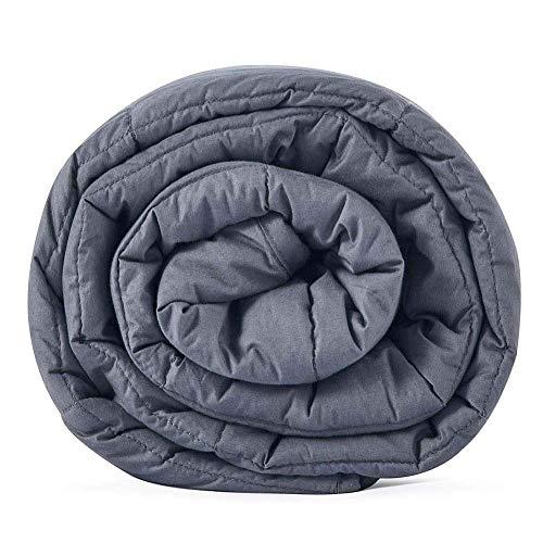 Leefun Gewichtsdecke Schwere Decke für Erwachsene und Kinder Gegen Schlafstörung und Stress Therapiedecke, Weighted Blanket für 45-70kg Personen (150x200cm,6.8kg)