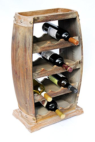 DanDiBo Scaffale-Vini Botte Marrone 1549 Botte Scaffale Porta-Bottiglie Alt.70 Cm Bar