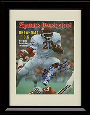 Framed Billy Sims Sports Illustrated Autograph Replica Print - Oklahoma Sooners