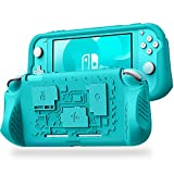 Fintie Case for Nintendo Switch Lite 2019 w/3 Game Card Slots - Soft Silicone [Shock Proof] [Anti-Slip] Protective Cover w/Ergonomic Grip Comfortable Grip Case for Switch Lite Console, Turquoise