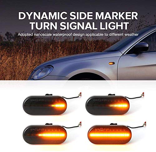LED side indicators Dynamic indicator light Blinker Black Smoke Custom-fit for Bora Golf 3 Golf 4 Passat 3BG Polo SB6