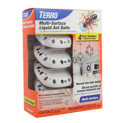 TERRO T334 Multi-Surface Liquid Ant Baits – 4 Discreet Bait Stations